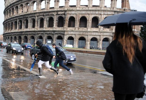 ITALY-WEATHER-STORM-RAIN